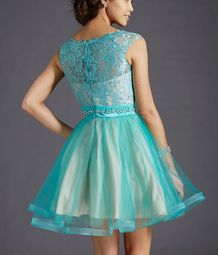 Lace Short Prom Dress Sheer Cocktail Dress Sexy Illusion Lace Homecoming Dress Beaded Party Dress Tu on Luulla