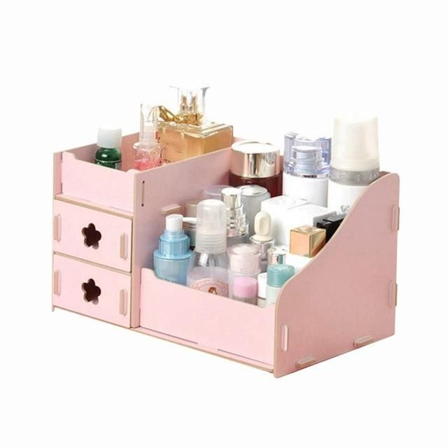 Hoomall Wooden Storage Box Jewelry Container Makeup Organizer Case
