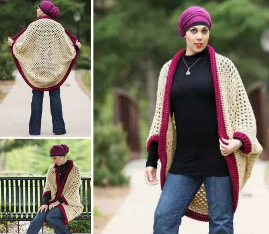 Crochet Granny Square Cocoon Shrug Free Pattern - The WHOot