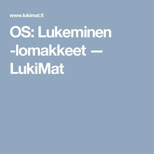 OS: Lukeminen -lomakkeet — LukiMat