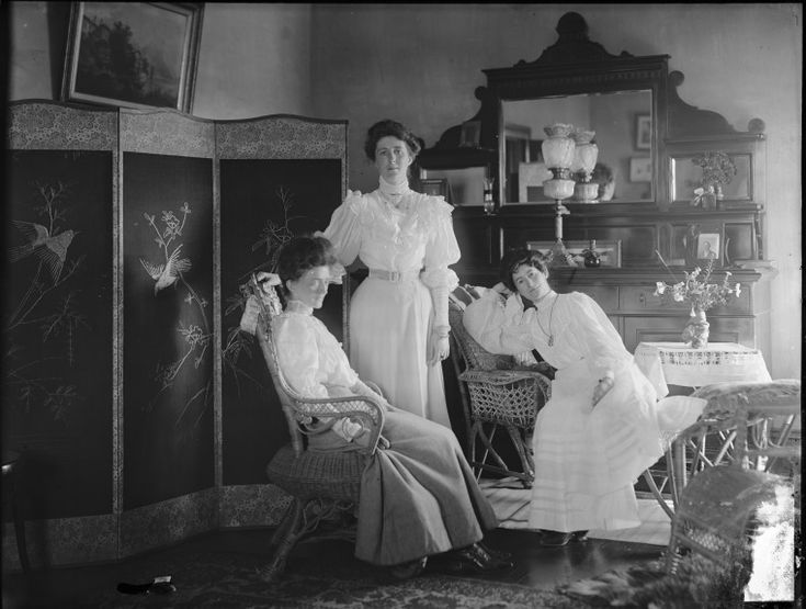 009062PD: Three women in a room, ca.1905.  http://encore.slwa.wa.gov.au/iii/encore/record/C__Rb1766515__S009062PD__Orightresult__U__X3?lang=eng&suite=def