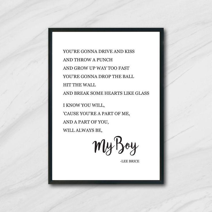 Boy Lee Brice Print / Printable Art / Digital Print / Instant Download / Wall Art / Nursery Decor by skylarelizabethh on Etsy https://www.etsy.com/ca/listing/577048696/boy-lee-brice-print-printable-art