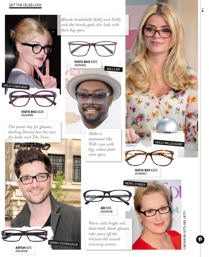 Get the celebrity look - with glasses from Specsavers.
