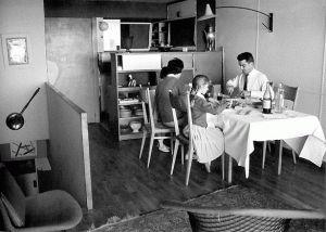 Interni della cucina dell' Unitè d' habitation.