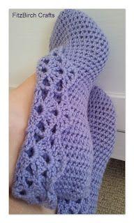 FitzBirch Crafts: Crochet Ballerina Slippers