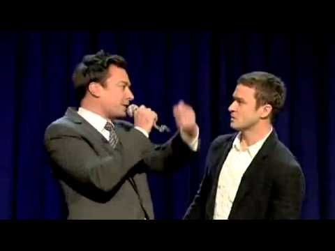 {Jimmy Fallon & Justin Timberlake History of Rap} I've watched this 3 times already ... I think I am going to watch it again right now ...
