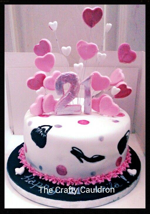 21st, Shoe and bag cake