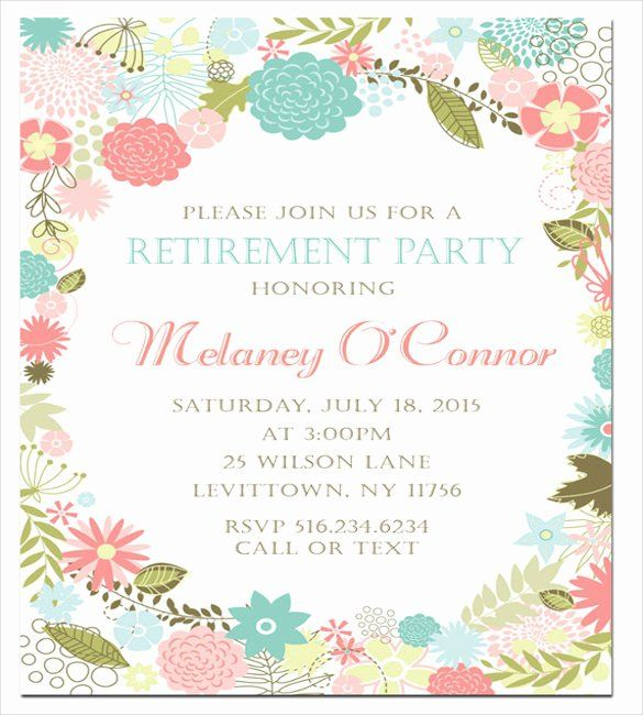 Retirement Party Invitations Template Fresh Retirement Party Invitation Template 36 Party Invite Template Retirement Invitation Template Invitation Template