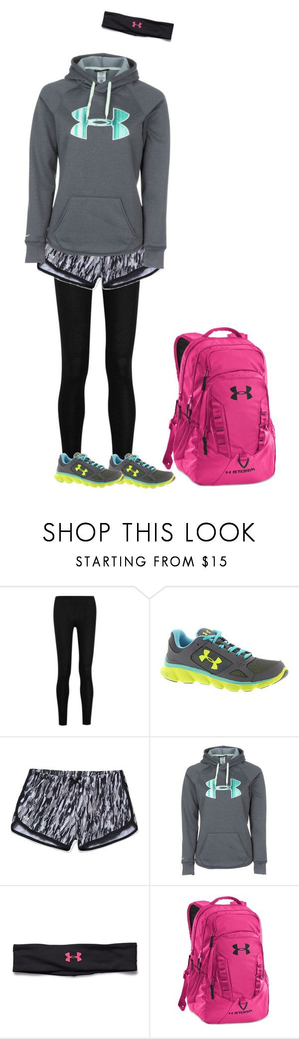 """under armer outfit"" by katherineedykes on Polyvore featuring Donna Karan, Under Armour, women's clothing, women, female, woman, misses and juniors"