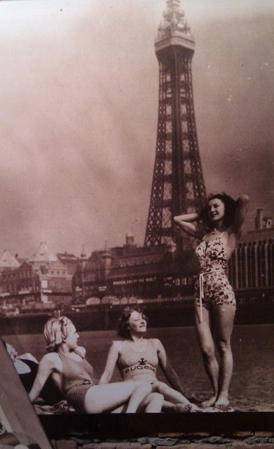 Old photo of the #Tower #Blackpool