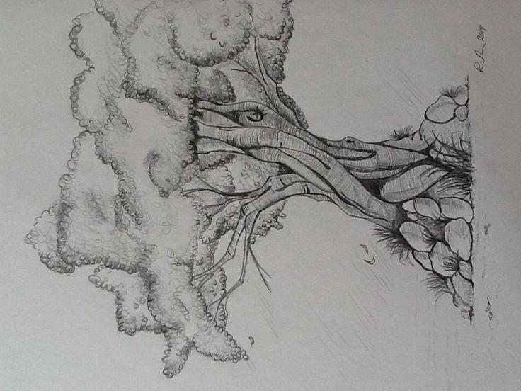 Træ tegning 4 - færdig