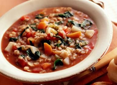 Try This Nourishing Tomato and Barley Vegetable Soup: Barley tomato soup with vegetables