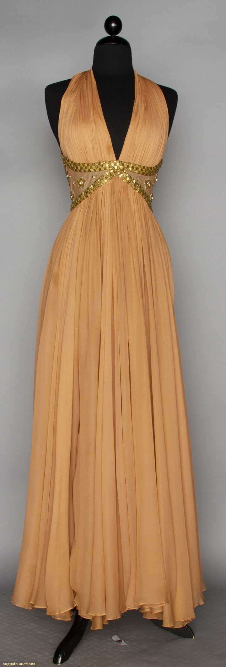 Two Evening Gowns, 1940s & 1990s, Augusta Auctions, November 11, 2015 NYC