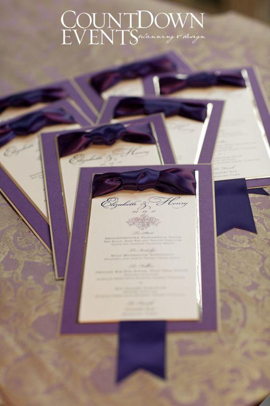 Invites Stationery Purple Royal