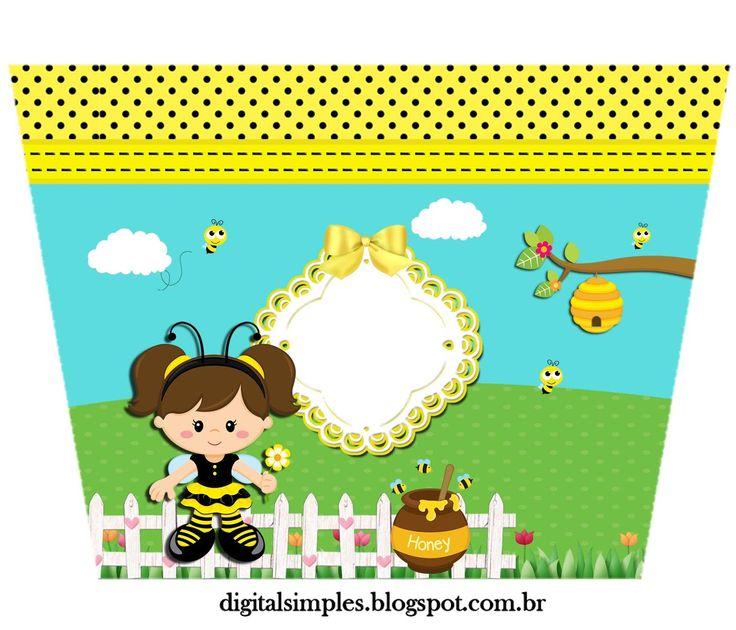 Kit Artes Digitais Tema Jardim das Abelhinhas, para imprimir grátis, rótulos, caixinhas, tutorial PhotoScape, etc...