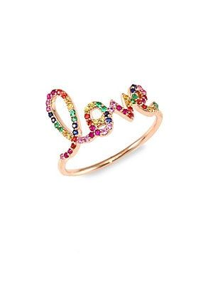 feee6837c Sydney Evan Large Love Rainbow Sapphire Ring | trinkets in 2019 ...
