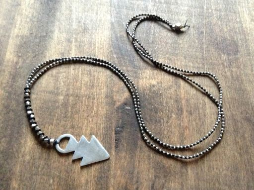 Silver Open Dart Necklace by Molly M. Designs