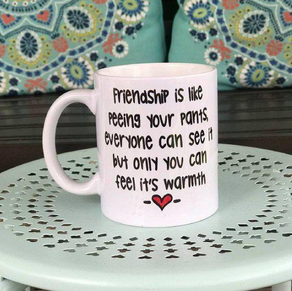 Personalised Friendship gift mug piss in my pants birthday funny joke christmas