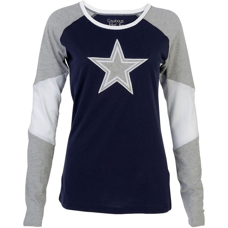 Dallas Cowboys Women's Rosemead Long-Sleeve T-Shirt #DALLASCOWBOYSMERCHANDIS #ShirtsTops