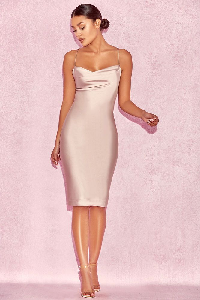 9788df300867 House of CB 'Alette' Champagne Satin Cowl Back Dress XS 6 / 8 MA 591 # fashion #clothing #shoes #accessories #womensclothing #dresses (ebay link)