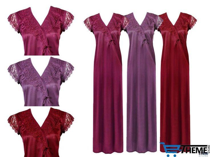 04c8afc9d4 ... LADIES NIGHTIES SHORT SLEEVE SATIN NIGHTY WOMENS NIGHTDRESS LACE 8-16  finest selection f9812 9ce55  Fasense Exclusive Women Satin Pink Nightwear  ...