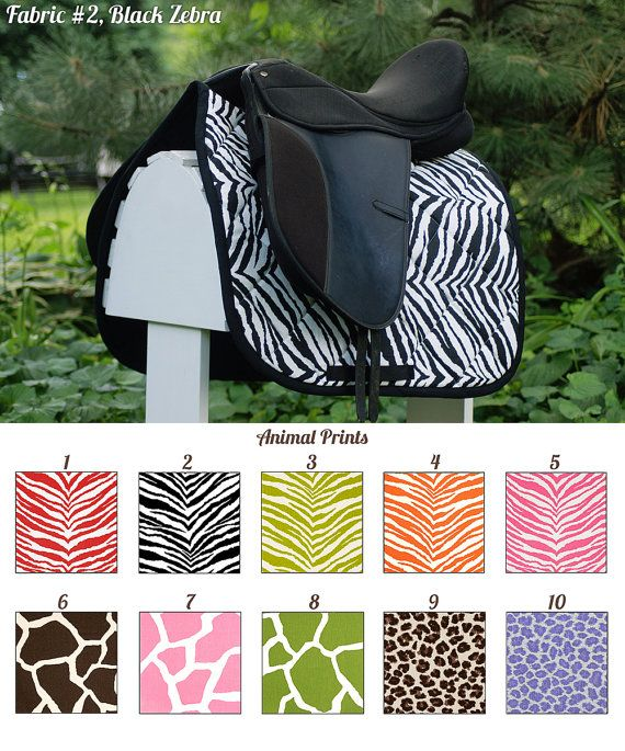 MADE TO ORDER Animal Print Saddle Pad Cheetah by PaddedPonies, $68.00