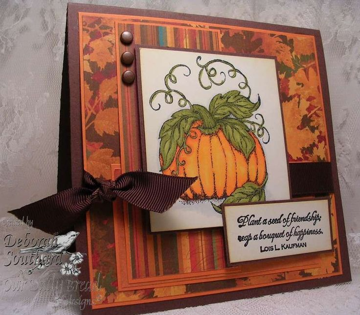 78+ images about Thanksgiving cards on Pinterest | Stamping ...