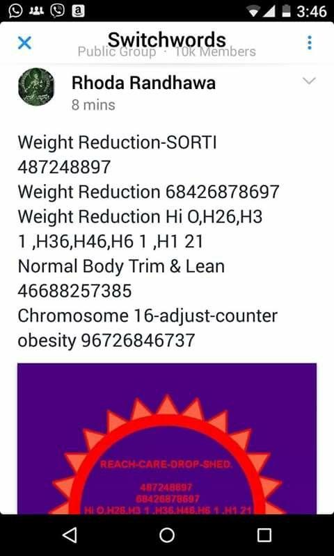 Weight loss Healing Codes by Rhoda Randhawa