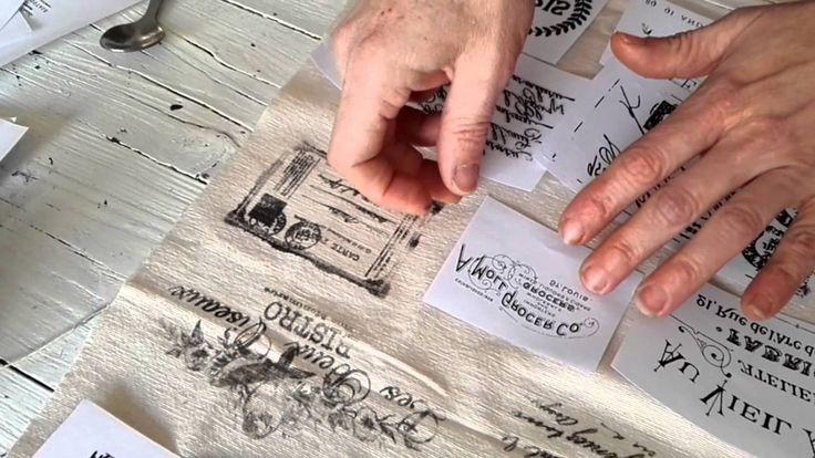 Transferencias sobre tela - Tapicería vintage