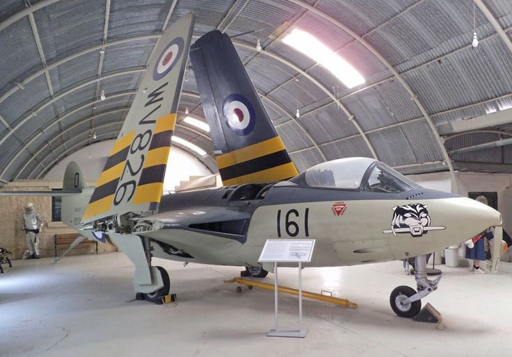 The Hawker/Armstrong Whitworth Sea Hawk was one of the most attractive jets produced by the British aviation industry. De Havilland Vampire T.II WZ550 (599/HF), which was purchased by the Malta Aviation Society and arrived on the Island in a shipping container in 1996. The aircraft was presented to the Malta Aviation Museum.