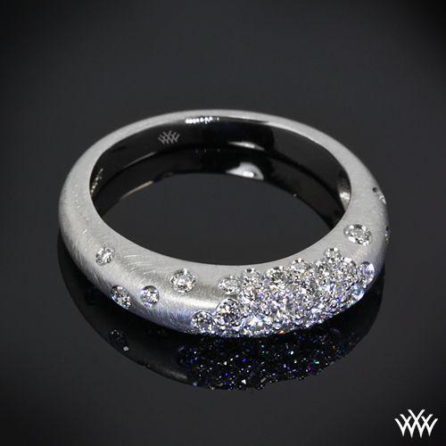 "Platinum ""Champagne Pave"" Diamond Right Hand Ring"