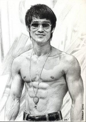 Exelente dibujo de Bruce Lee        This is One Of The Best Drawing On Bruce Lee, That I've ever Seen.I'm a Big Fan.