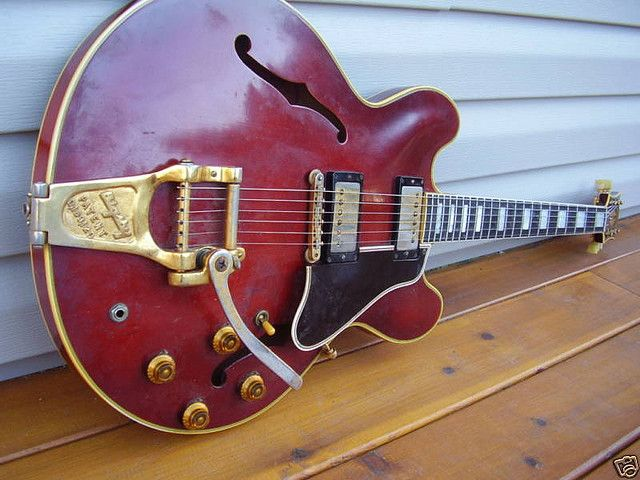 1958 Gibson es-355. #gibson #class My dads Gibson was an ES 355 1964 model...looked just like this one!