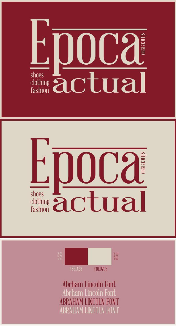 Logotipo Epoca Actual Boutuique de la Ciudad de Cali Colombia.  Moodboarn Paleta de Colores Tipografia  ElPatas® Design