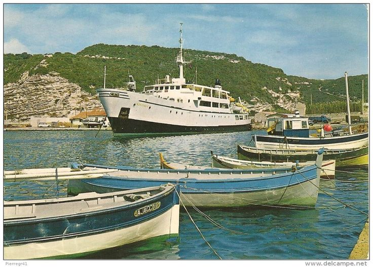France - CPA-1970-2A-BONIFACIO-PORT-Le FERRY BONIFACIO-Liaison avec la SARDAIGNE-TBE
