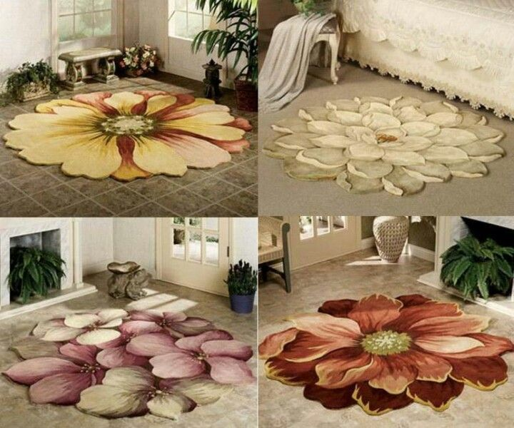Floor cloths! WOW! We need to find an artist source for these, they are absolutely gorgeous!!!