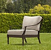 Antibes Lounge Chair Painted Metal | Ottomans | Restoration Hardware