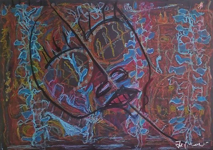 """""""Immagini nel buio"""" Pastelli a olio su carta 36x5050x36"""