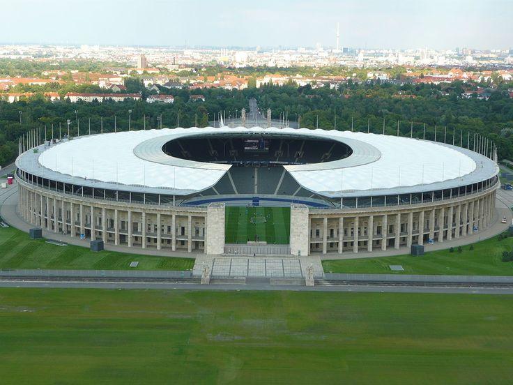 Olympiastadion, 1936 by  Werner March & Albert Speer (1936), Friedrich Wilhelm Krahe (1974), Berlin