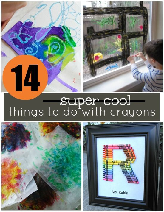 14 super cool things to do with crayons actividades y for Cool creative things