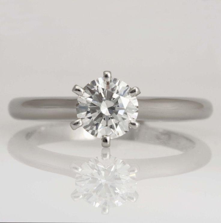 Handmade ladies platunum diamond engagement ring  www.robertpaul.com.au