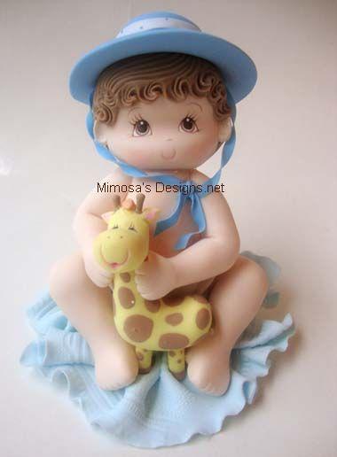 *COLD PORCELAIN ~ Baby Boy Safari/Jungle- Cake topper