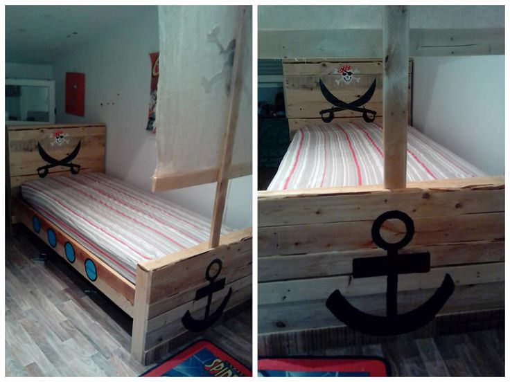 Toddler Pirate Pallet Bed. 1001 PalettenRecycelte PalettenHolzpasletten PalettenholzPaletten ...