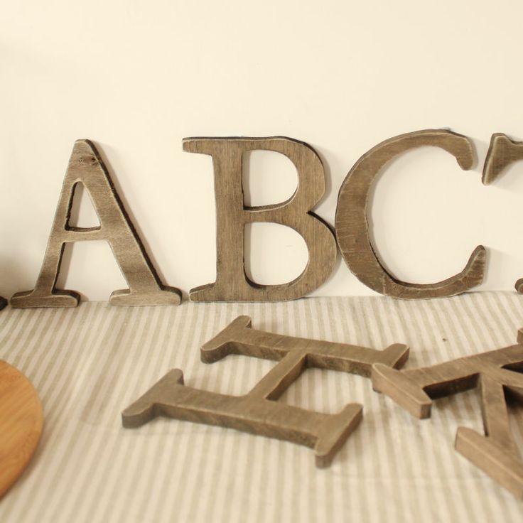 Оптовая ретро сделать старый деревянный заглавную высоту письмо 13см толщина 1 см рабочего отделки стен 10/pack Быстрая доставка $45.00
