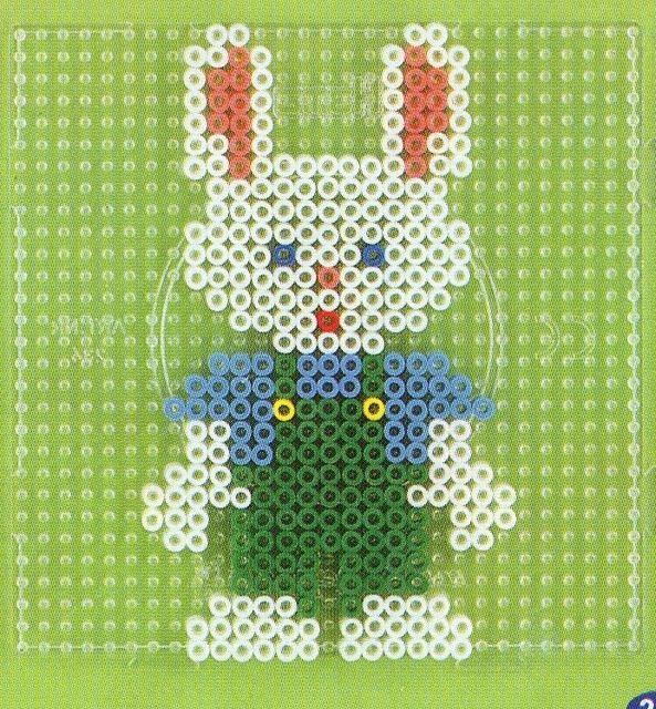 Easter bunny hama perler pattern