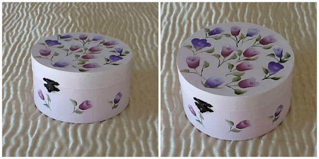 Cajitas decoradas cajita de madera cajita con flores - Cajas de madera decoradas ...