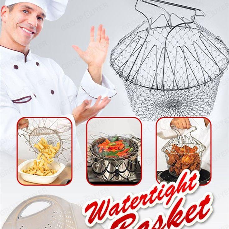 Multi-function Colander Cook Fried basket Kitchen Cooking Tool #Unbranded