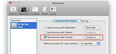 Sync Your Gmail Contacts with Your Mac Address Book