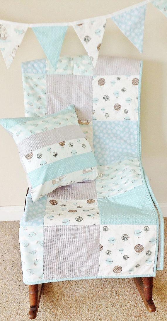 Baby Quilt Modern Patchwork Cot Crib Set Nursery Bedding