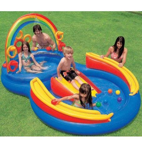 intex vannpalass rainbow ring with piscine foir fouille. Black Bedroom Furniture Sets. Home Design Ideas